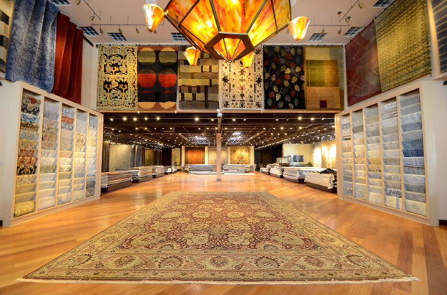 Cyrus Rugs gallery interior in Minneapolis