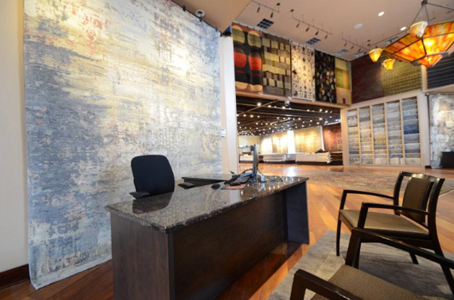 Cyrus Rugs store interior in Minneapolis