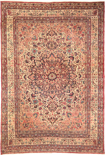 the Cyrus Artisan Antique Persian Lavar Kerman rug
