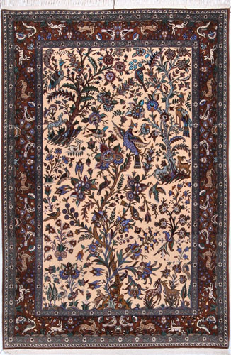 the Cyrus Artisan Persian Qum rug