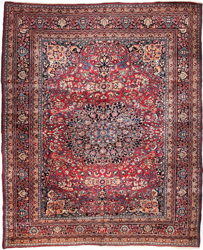 the Cyrus Artisan Semi Antique Persian Mashad rug