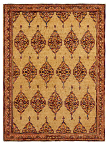 the Wool & Silk Afghan Farahan rug
