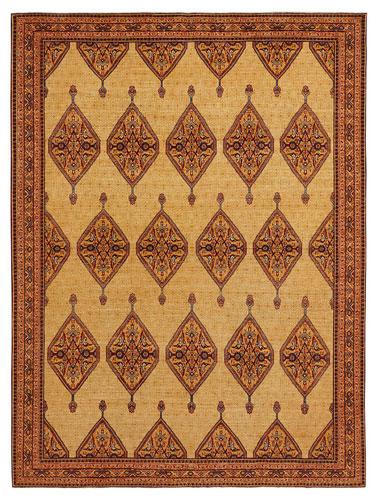 the Wool & Silk Afghan Farahan rug