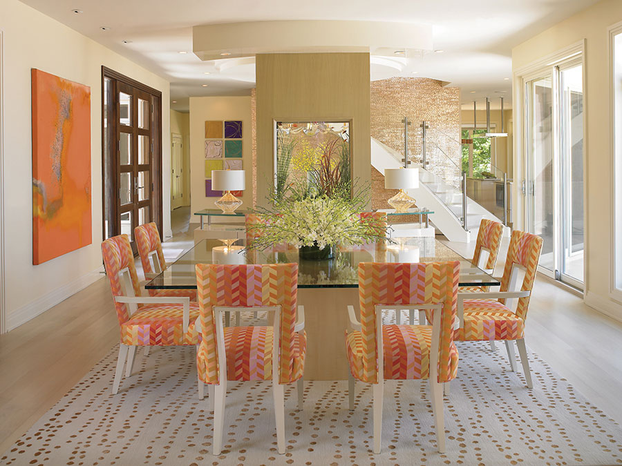 how to decorate with standard rug size dining room