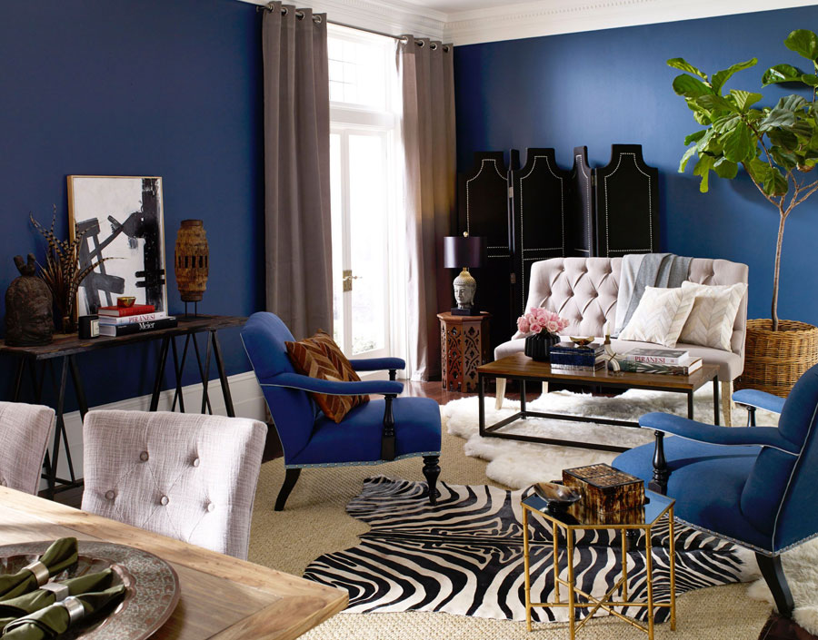 a combination of layered rugs in the living room