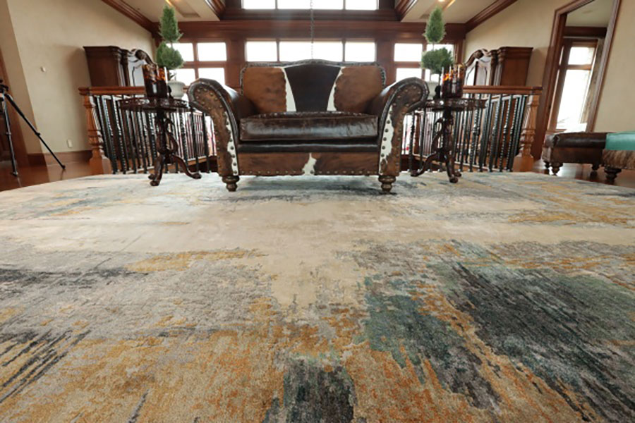 decorating with distressed rug tips