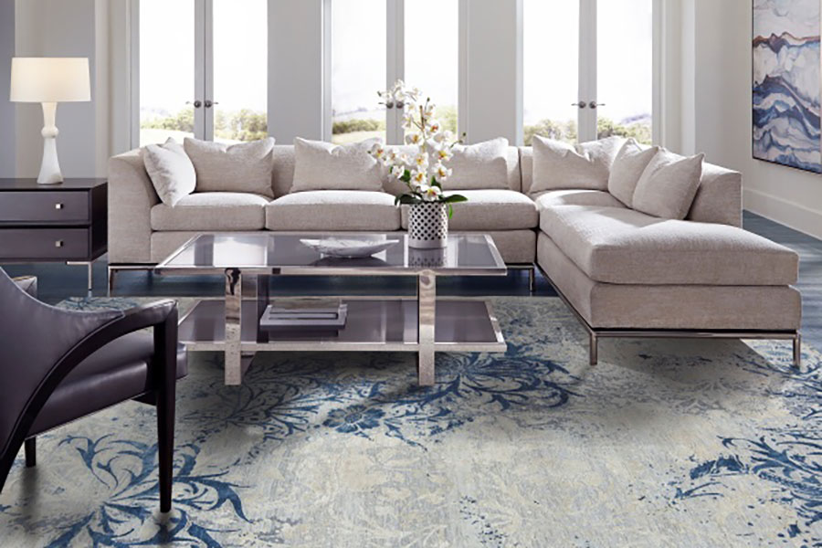 how to decorate home with distressed Oriental rugs