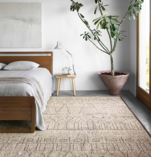 Loloi Odyssey wool rug in the bedroom
