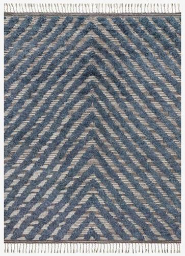 Loloi Khalid tribal textured area rug