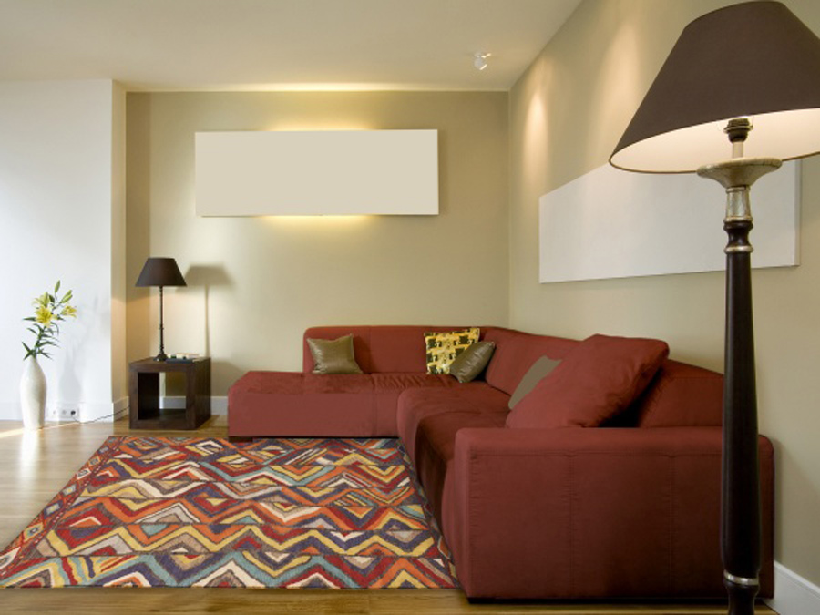 red sofa living room decorating tips
