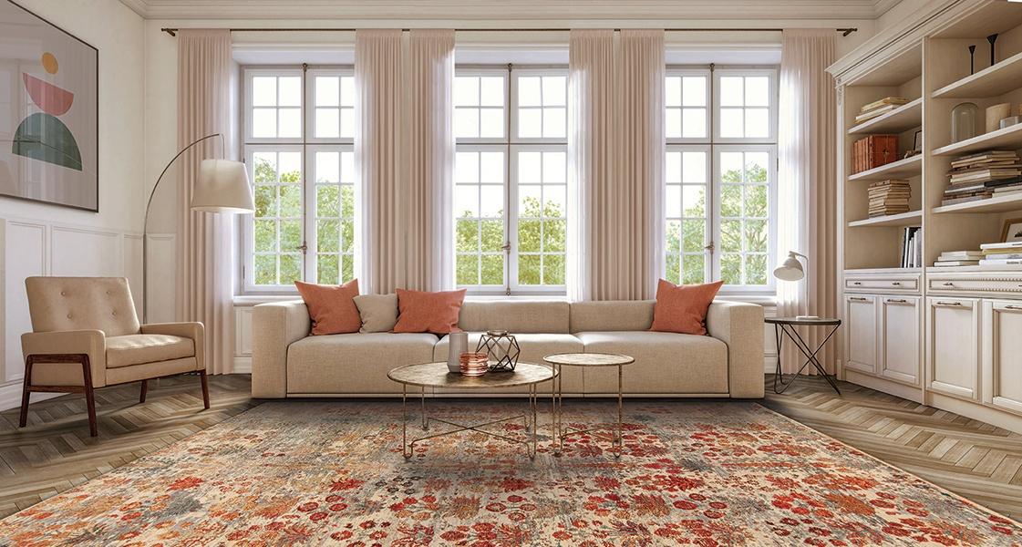 blush pink interior design living room