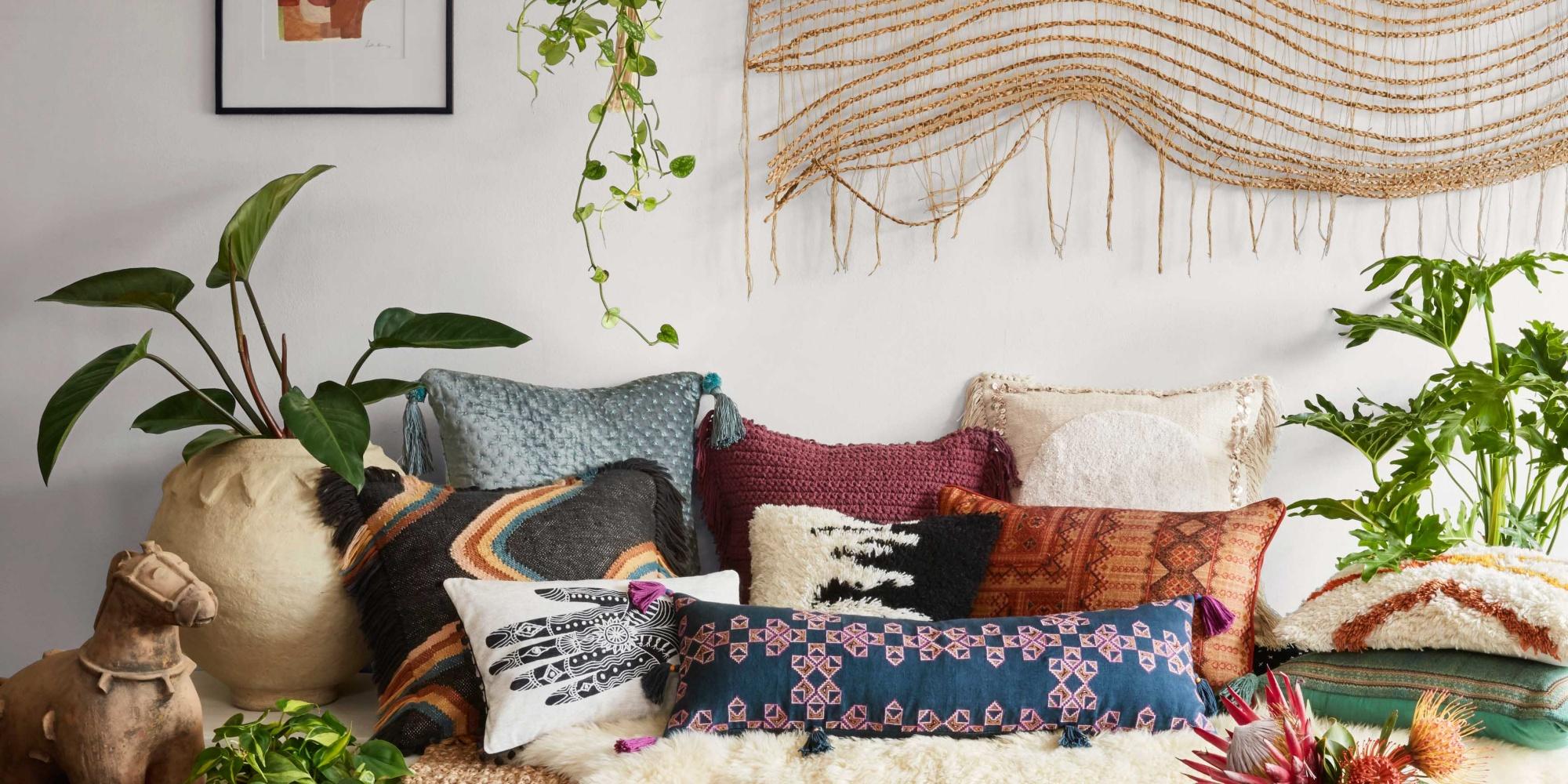 a boho-inspired bedroom