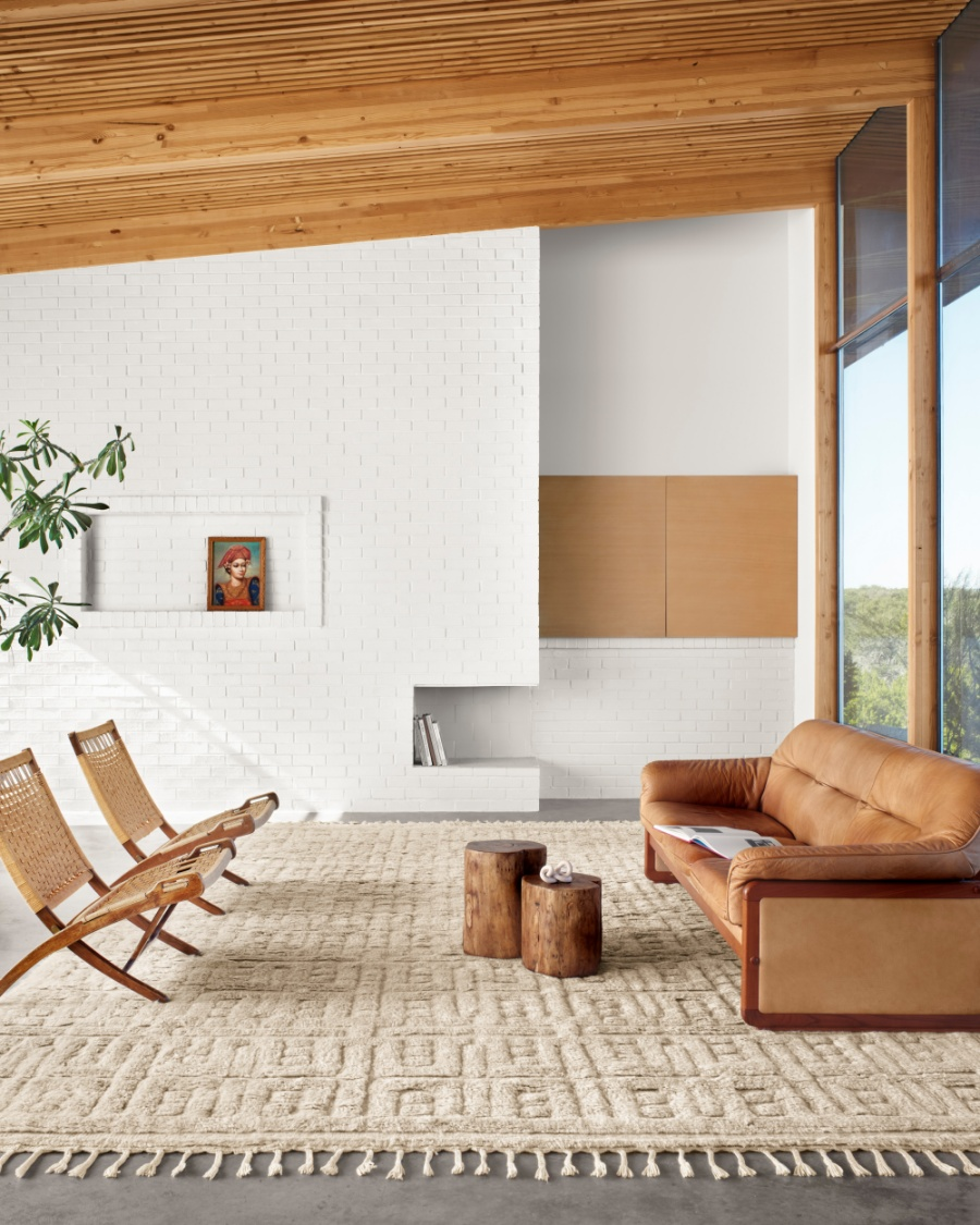 clean and simple mid century modern living area