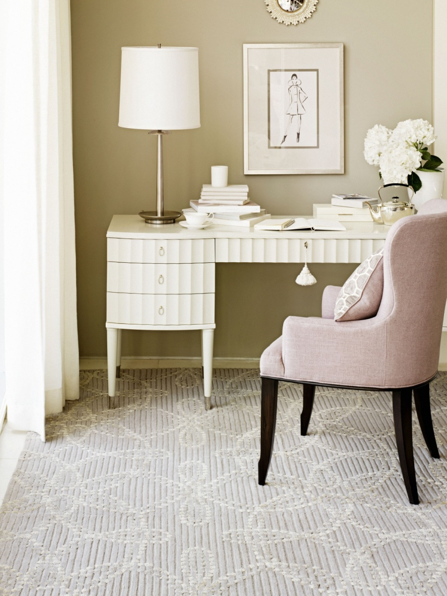 chic and colorful home office decor ideas